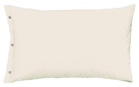 Povlak na polštář italské výroby 100% bavlna - 2 ks krémová