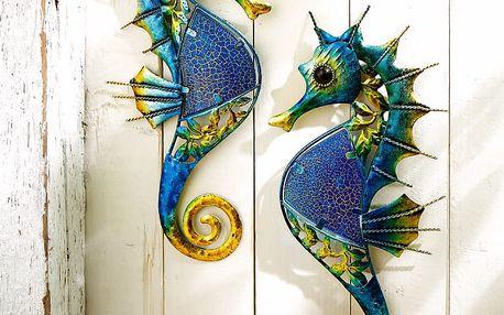 """Nástěnná dekorace """"mořský koník"""", 2 kusy"""