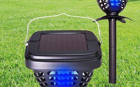 Solární lampa a lapač hmyzu - 2 v 1
