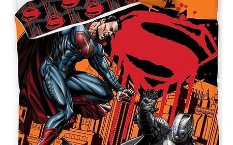 CARBOTEX Povlečení Batman vs Superman bavlna 140/200, 70/90 cm