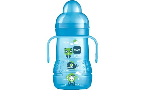 MAM Trainer - láhev s nevylévacím pítkem 220ml modrý – náhodný motiv
