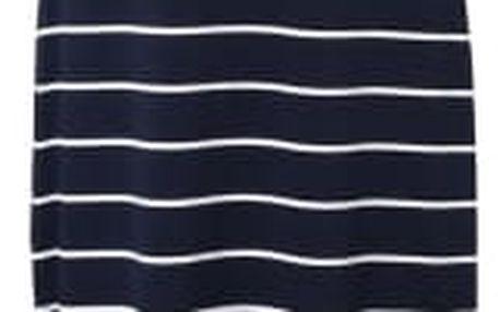 Jednoduché plážové maxi šaty s proužky - modrá-velikost č. 4