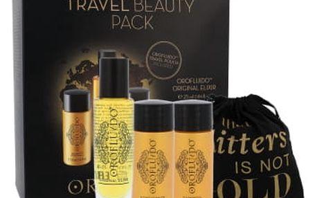 Orofluido Beauty Elixir dárková kazeta pro ženy tekuté zlato Elixir 25 ml + šampon 50 ml + kondicionér 50 ml + sáček
