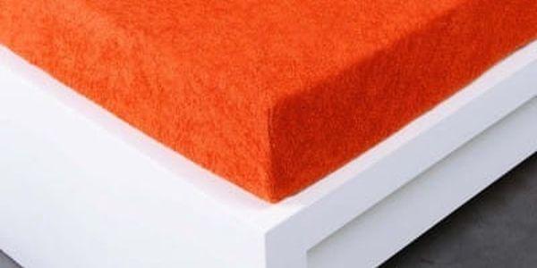 XPOSE ® Froté prostěradlo Exclusive dvoulůžko - tmavě oranžová 160x200 cm