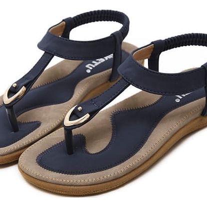 Městské sandály s pružným páskem