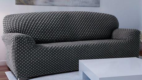 Forbyt Multielastický potah na pohovku Contra šedá, 180 - 220 cm