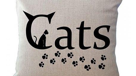 Povlak na polštář s motivy kočiček - 5 variant