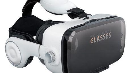 Forever VRB-200 3D brýle s mikrofonem,bílá - HAPPY-3D-VRB200
