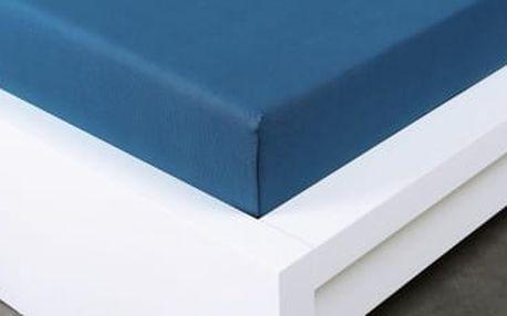 XPOSE ® Jersey prostěradlo Exclusive dvoulůžko - tmavě modrá 180x200 cm
