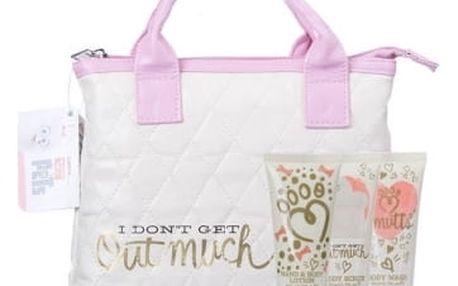 Universal The Secret Life Of Pets dárková kazeta sprchový gel 50 ml + tělový peeling 50 ml + tělové mléko 50 ml + kabelka