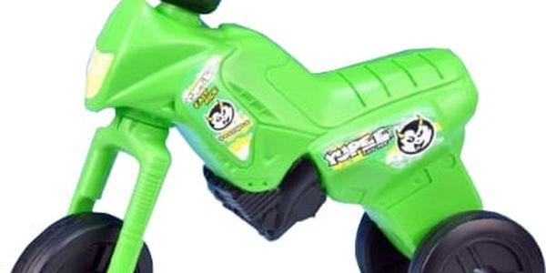 TEDDIES Odrážedlo Enduro Yupee zelené, velké, plast