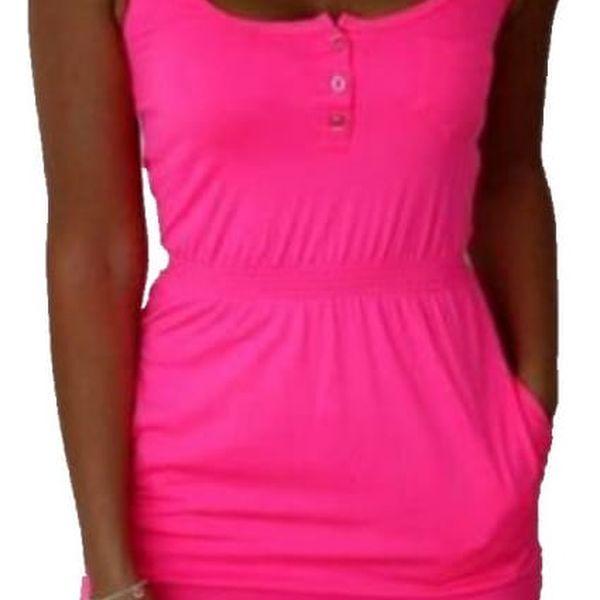 Ležérní letní šaty v pestrých barvách