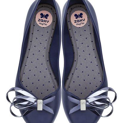 Zaxy tmavě modré dámské baleríny Luxury Fem Navy