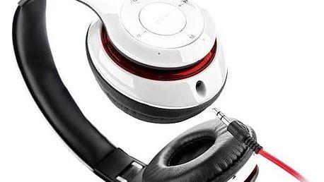 Sluchátka GoGEN HBTM 41WR (HBTM 41WR ) bílé/červené + Doprava zdarma