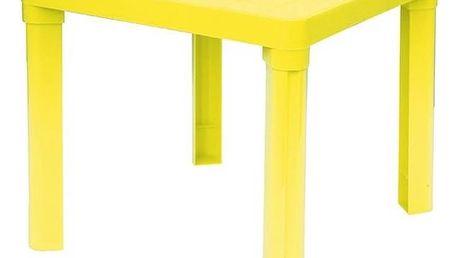 Dětský stoleček IPAE - odnímatelné nohy žlutý/plast