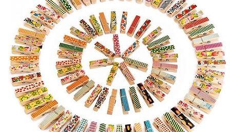 Balení dřevěných barevných mini kolíčků