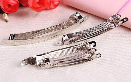 Holá sponka do vlasů na výrobu domácích šperků - 10 ks