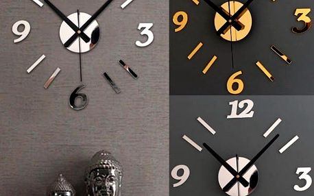 Nástěnné hodiny v kovovém vzhledu