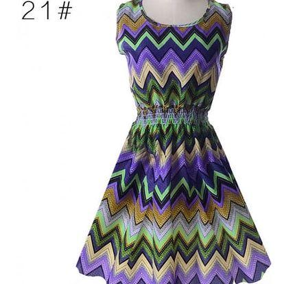 Rozmanité letní šaty - vzor 19, vel. 1