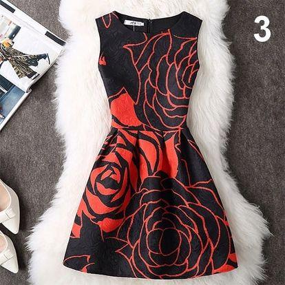 Elegantní šaty s originálními motivy - varianta 3, vel. 3