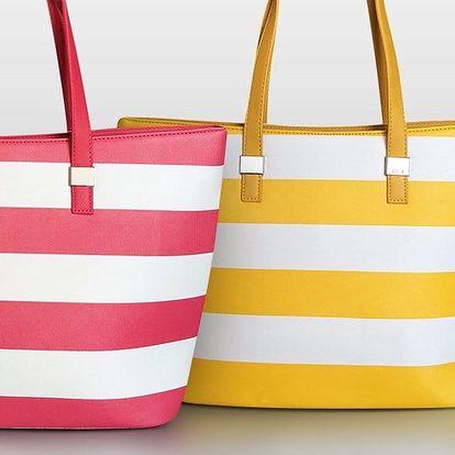 Dámské pruhované kabelky David Jones z eko kůže