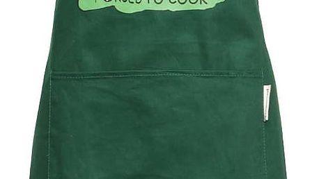 Tmavě zelená zástěra Cooksmart Born to Golf