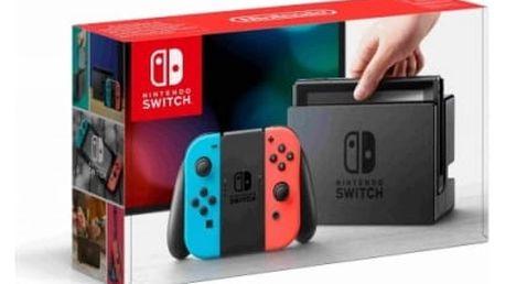 Herní konzole Nintendo Switch s Joy-Con - modro/ červená (NSH005) červená/modrá