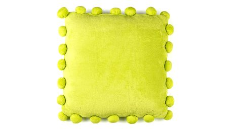 BO-MA Polštářek Pompon zelená, 45 x 45 cm,