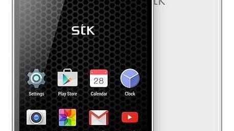 Mobilní telefon STK Hero X Dual SIM (834265) bílý SIM s kreditem T-Mobile 200Kč Twist Online Internet (zdarma)