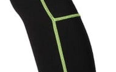 Kompresní unisex sportovní návleky - Černo-zelená L