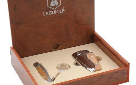 Set zapalovače a skládacího nože Laguiole Maxime