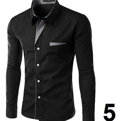 Pánská formální košile s dlouhým rukávem - varianta 5, vel. 5