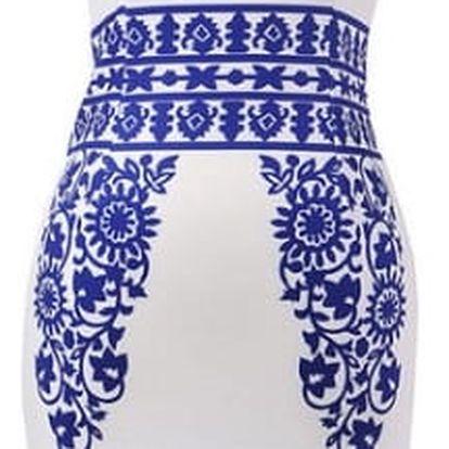 Elegantní pouzdrové šaty s květinovými motivy - Varianta 10, velikost 3