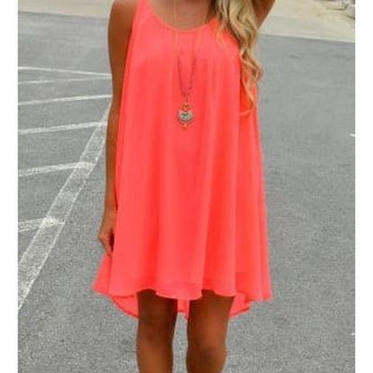 Dámské šaty plážové v pestrých barvách - Oranžové - 5