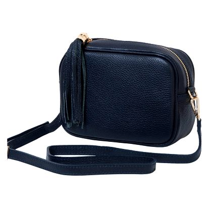 Tmavě modrá kabelka z pravé kůže Andrea Cardone Pezzo - doprava zdarma!