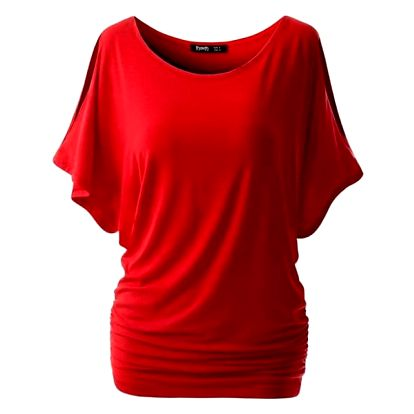 Dámské triko s otvory na ramenou - Červené, velikost 5