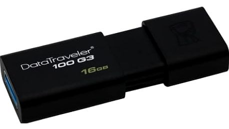 USB Flash Kingston 16GB (DT100G3/16GB) černý