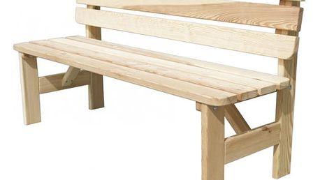 Zahradní dřevěná lavice VIKING - 150 cm