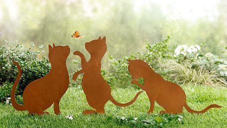 "Zápich do zahrady ""kočky"", 3 kusy"