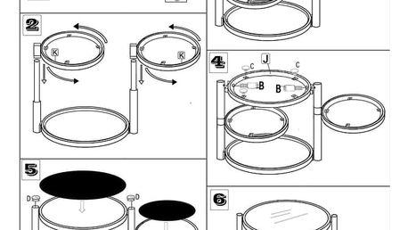 Konferenční stolek MOIRA, chrom/černé sklo