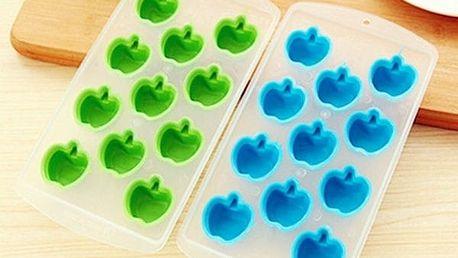 Forma na led ve tvaru jablíček - celá zelená