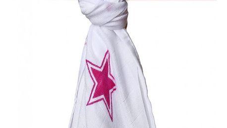 KIKKO Bambusová osuška/plena Stars 90x100 (1 ks) – magenta