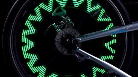 LED měnící se světlo do výpletu kola - dodání do 2 dnů