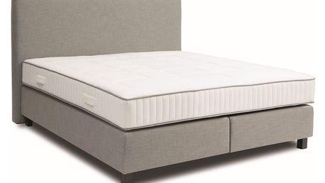 Světle šedá boxspring postel Revor Roma, 160x200cm - doprava zdarma!