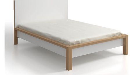 Dvoulůžková postel z borovicového dřeva s úložným prostorem SKANDICA InBig, 160x200cm - doprava zdarma!
