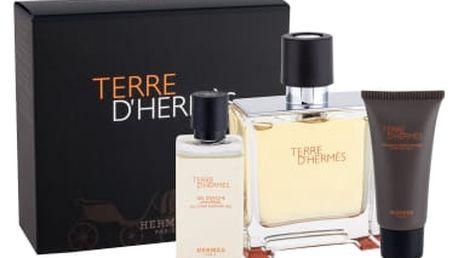 Hermes Terre D´Hermes dárková kazeta pro muže parfém 75 ml + sprchový gel 40 ml + balzám po holení 15 ml