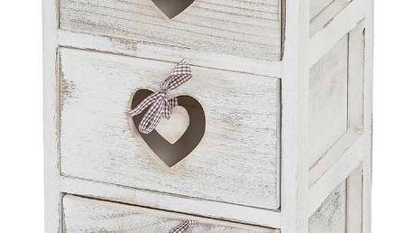 Dřevěná skříňka se 3 šuplíky Mendler Shabby - doprava zdarma!