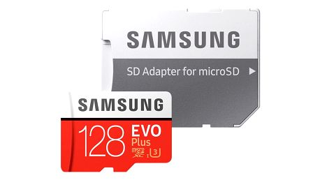 Samsung Micro SDXC EVO Plus 128GB UHS-I U3 + SD adaptér - MB-MC128GA/EU