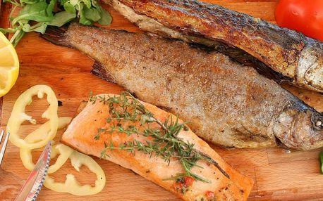 Rybí variace z grilu a bowling až pro 8 osob