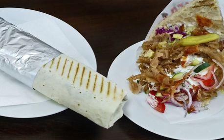 Vydatný kebab a nápoj dle výběru ve Vršovické